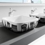 siyah beyaz lavabo